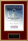 New York Metro Area Top Doctor 5th Anniversary in 2006