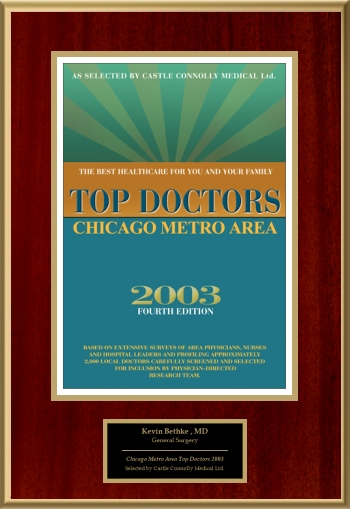 2003 Chicago Metro Area Top Doctors
