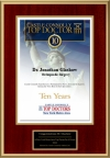 New York Metro Area Top Doctor 10th Anniversary is 2011