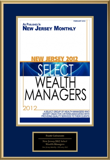 New Jersey 2012 Select Wealth Managers
