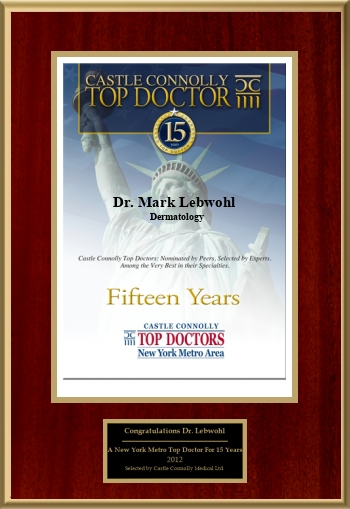 New York Metro Area Top Doctor 15th Anniversary in 2012