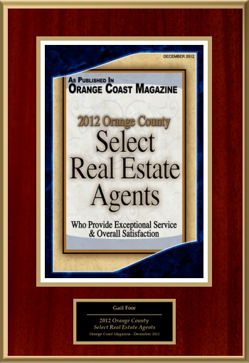 2012 Orange County Select Real Estate Agents