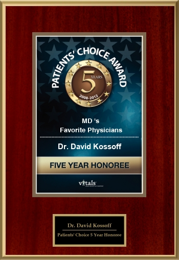 Patients' Choice 5 Year Honoree 2012