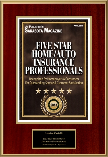 Five Star Home/Auto Insurance Professionals 2013