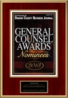 General Counsel Awards 2013 Nominees