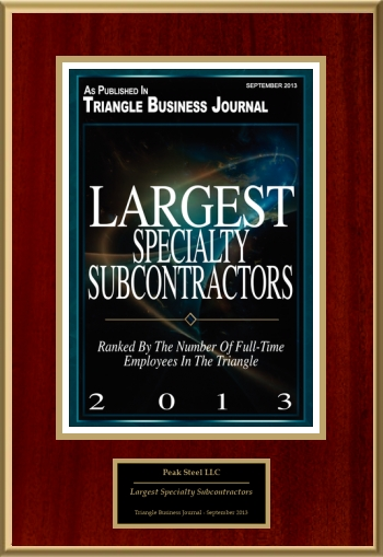 Largest Specialty Subcontractors