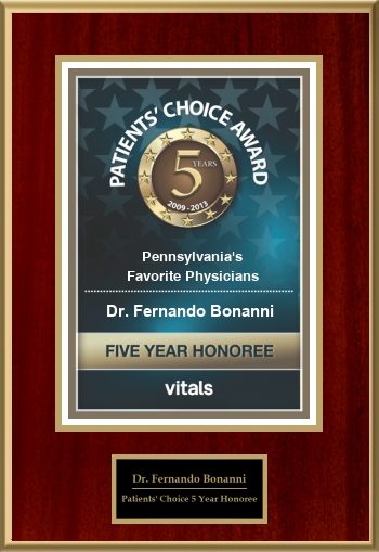 Patients' Choice 5 Year Honoree 2013
