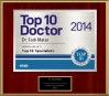 Vitals Top 10 Doctor by Metro Area