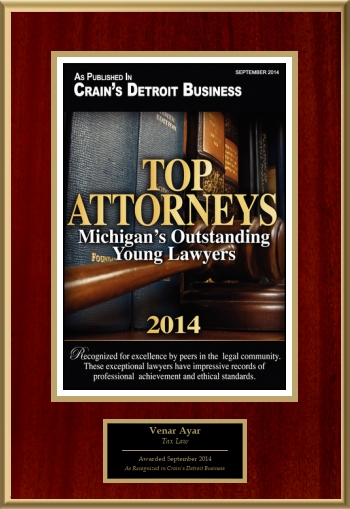 Top Attorneys:  Michigan's Outstanding Young Lawyers