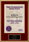 Compassionate Doctor 5 Year Honoree 2013