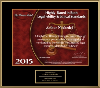 2015 Peer Review Rated Attorney