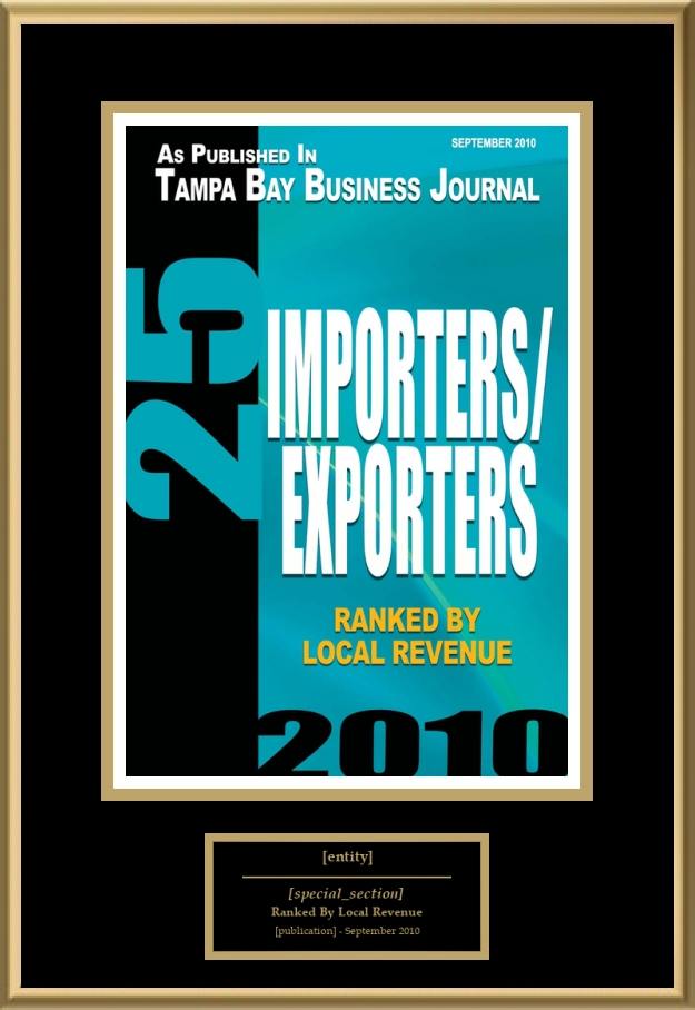 25 Importers/Exporters | American Registry - Recognition Plaques