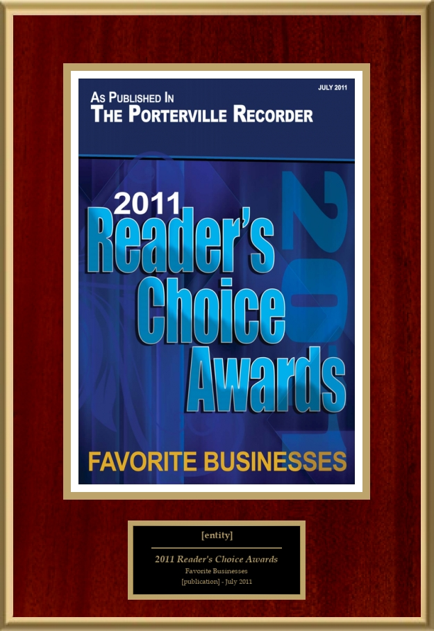 2011 Reader's Choice Awards   American Registry - Recognition