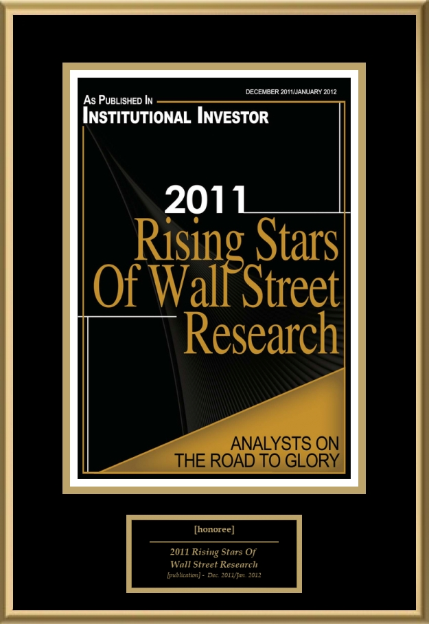 2011 Rising Stars Of Wall Street Research American