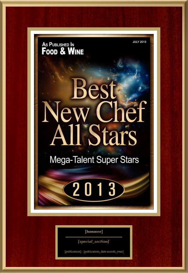 Best New Chef All Stars American Registry Recognition Plaques
