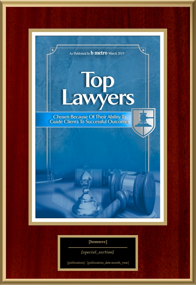 Top Lawyers 2019 | American Registry - Recognition Plaques