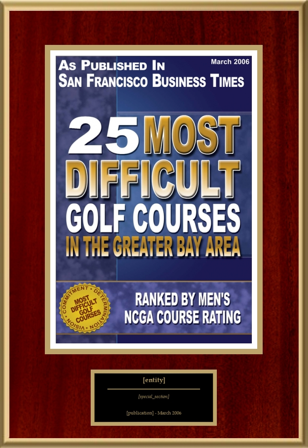 25 most difficult golf courses in the greater bay area american