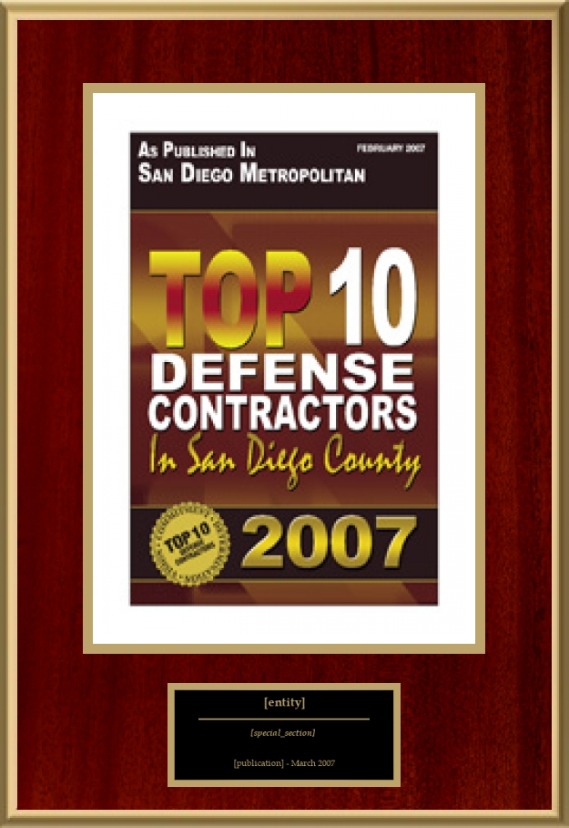 Top 10 Defense Contractors In San Diego County | American Registry