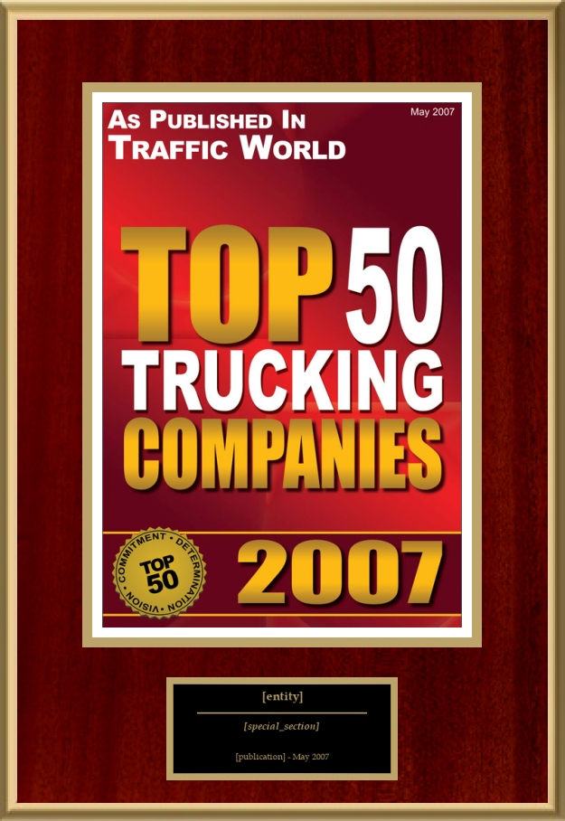 Top 50 Trucking Companies   American Registry - Recognition