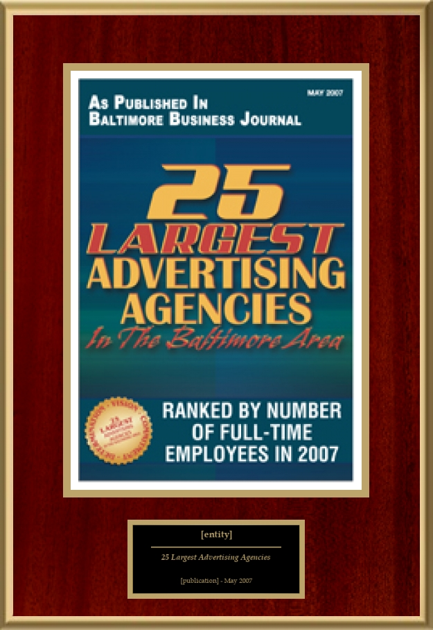 25 largest advertising agencies in the baltimore area for American ad agencies