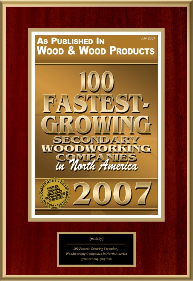 100 Fastest Growing Secondary Woodworking Companies In North America