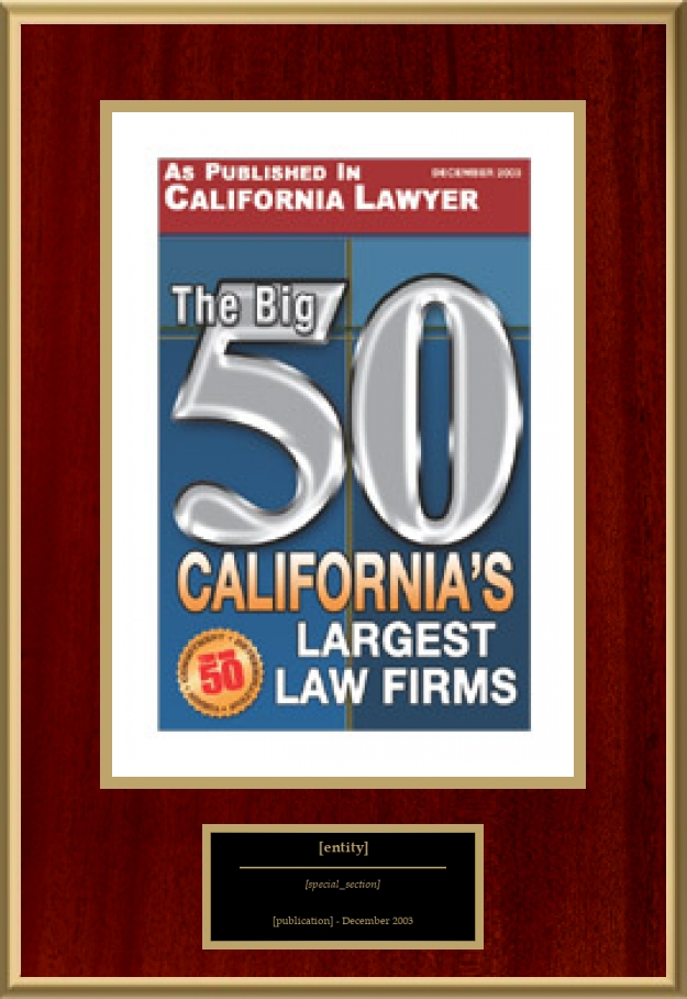 The Big 50 - California's Largest Law Firms | American