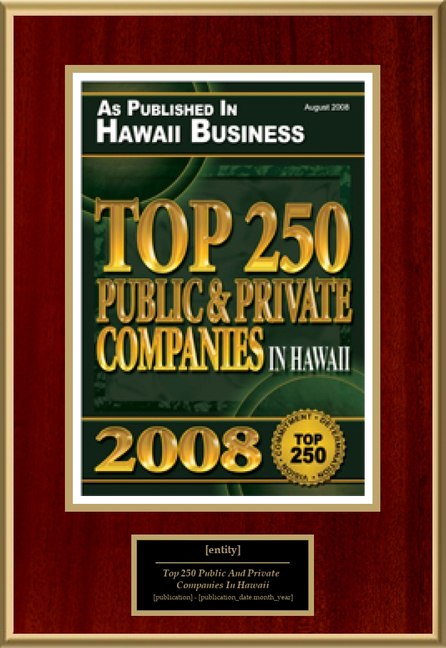 Top 250 Public And Private Companies In Hawaii | American