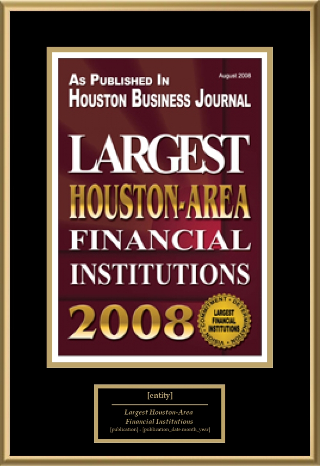 Largest Houston Area Financial Institutions American
