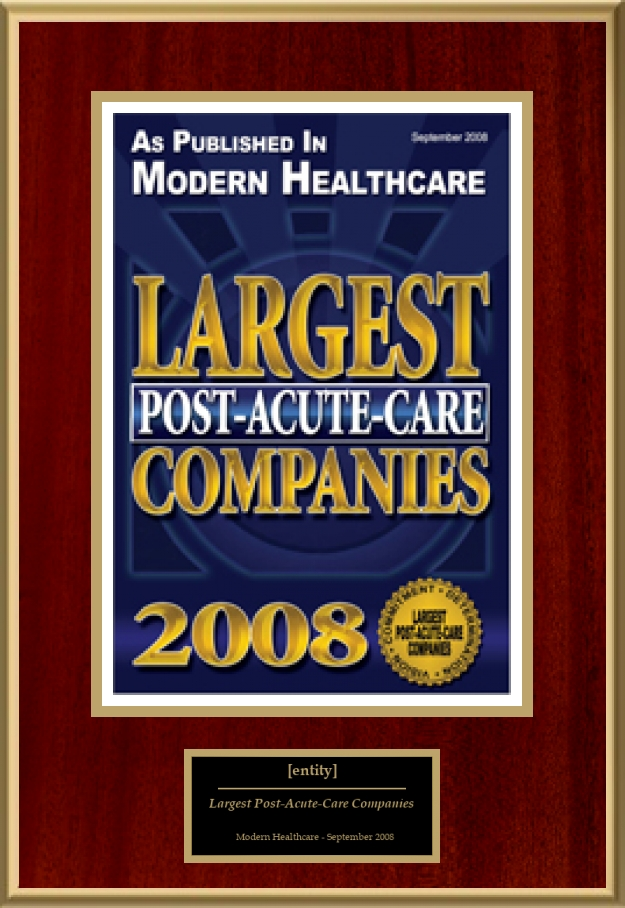 Largest Post Acute Care Companies American Registry