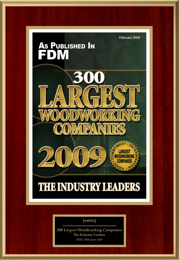 300 Largest Woodworking Companies American Registry Recognition