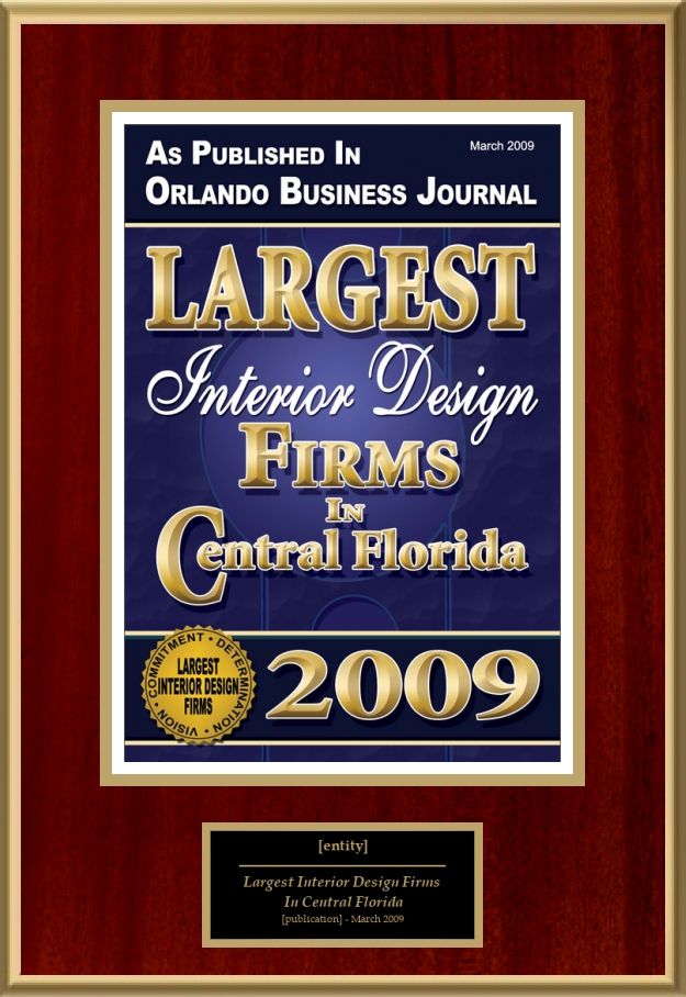 largest interior design firms in central florida american registry
