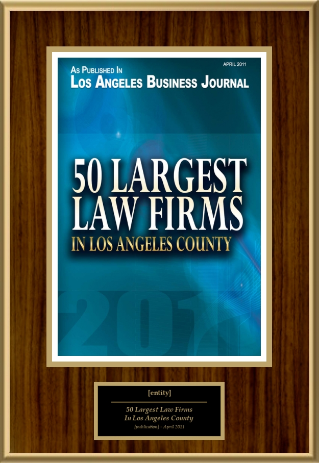 50 Largest Law Firms In Los Angeles County American Registry Recognition Plaques Award Plaque Countertop Display Acrylic Displays Banner Printing