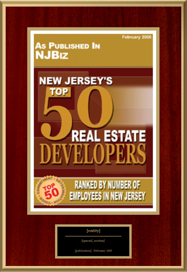 New Jersey S Top 50 Real Estate Developers American Registry Recognition Plaques Award Plaque Countertop Display Acrylic Displays Banner Printing